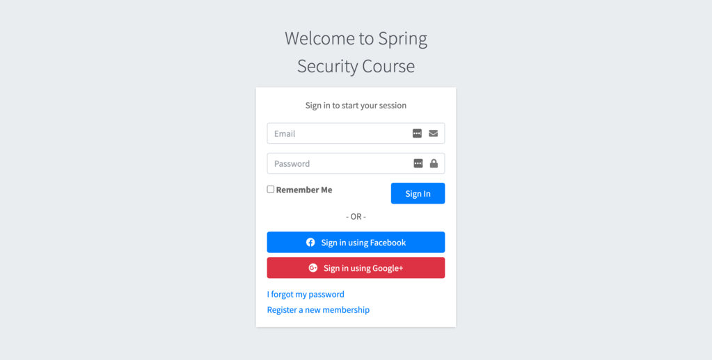 spring security login page