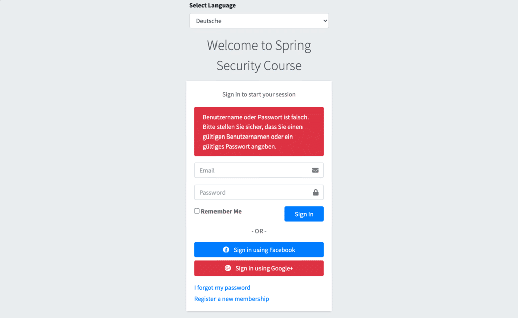 message localization with spring security