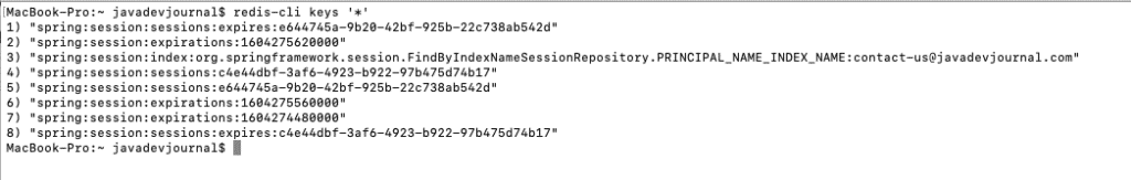 Spring Session with Redis and Spring Security