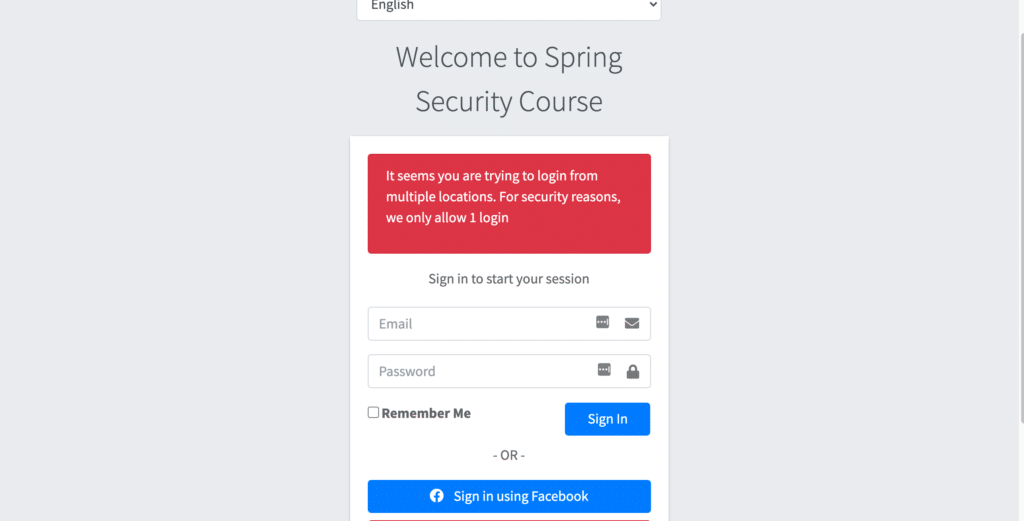 spring security session management